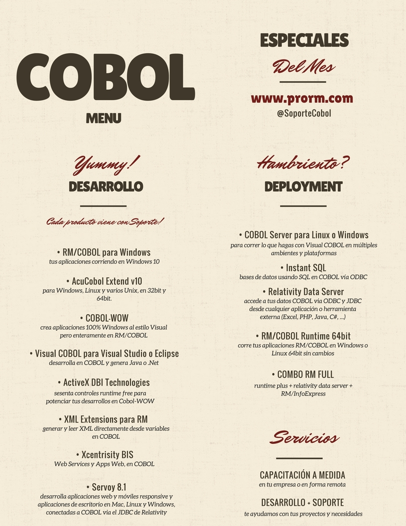 COBOL Menu