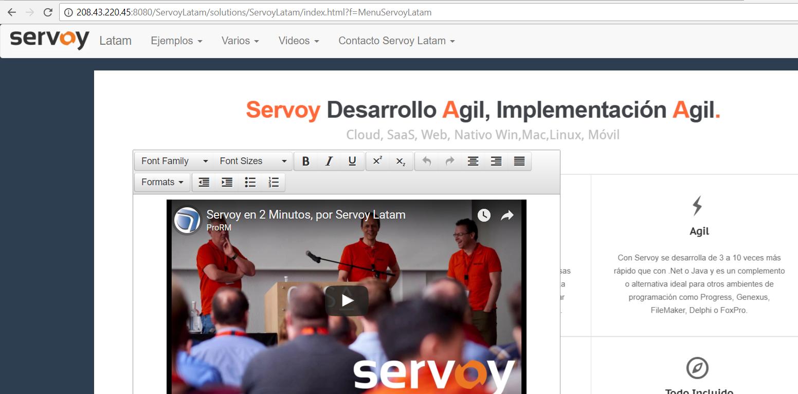 ServoyLatam.com nuevo sitio con ejemplos de Servoy en Castellano